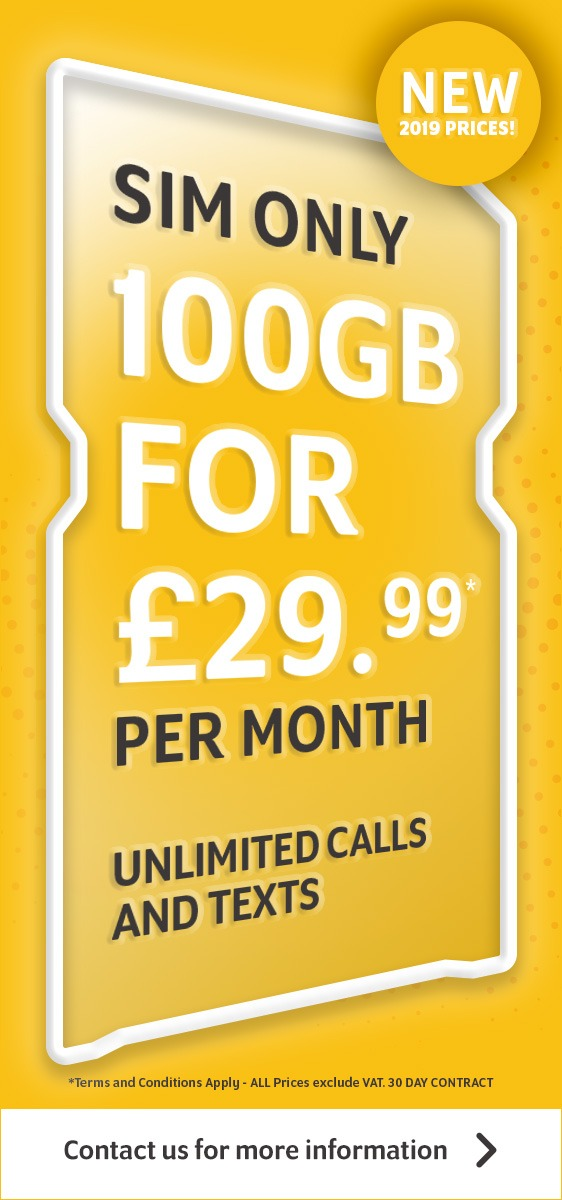 SIM ONLY Offer - 100GB for £29.99