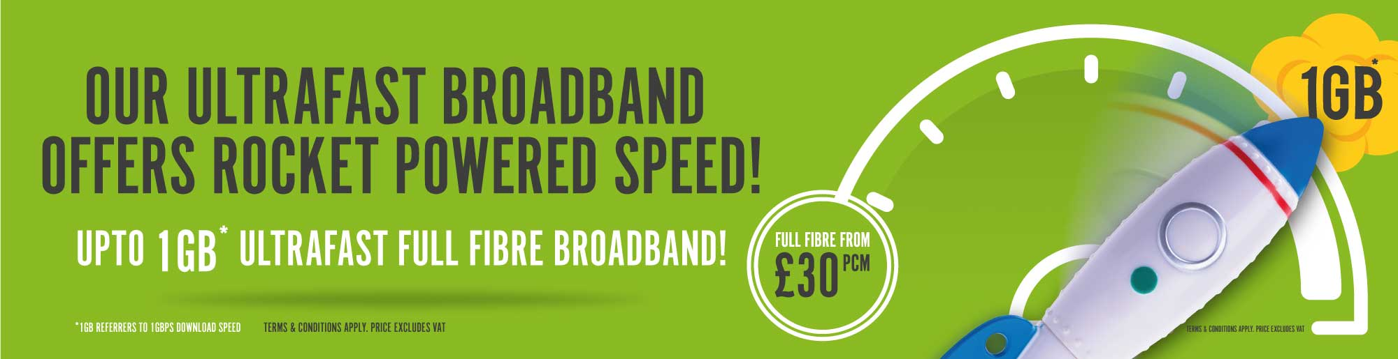 Full Fibre Broadband from £30 per month